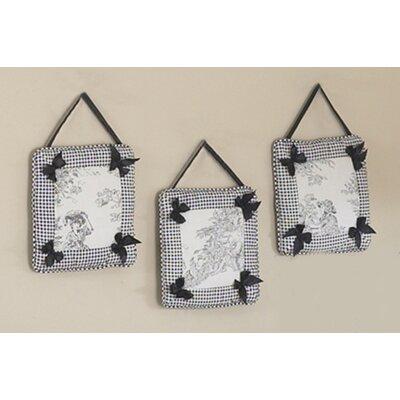 Sweet Jojo Designs 3 Piece Black Toile Hanging Art Set