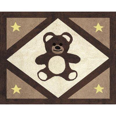 Sweet Jojo Designs Teddy Bear Chocolate Outdoor Area Rug