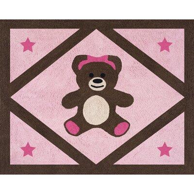 Sweet Jojo Designs Teddy Bear Pink Area Rug