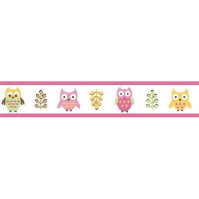 "Sweet Jojo Designs Happy Owl 15' x 6"" Wildlife Border Wallpaper"