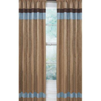 Sweet Jojo Designs Soho Blue and Brown Curtain Panels