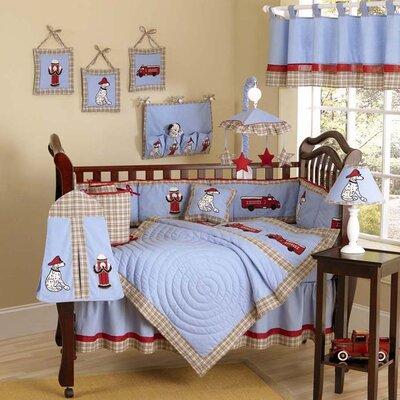 Sweet Jojo Designs Frankie's Fire Truck 9 Piece Crib Bedding Set