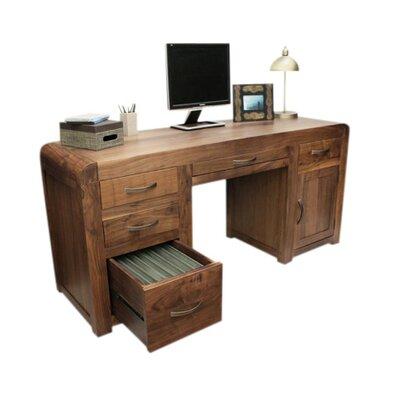 Baumhaus Shiro Executive Desk with Keyboard Tray