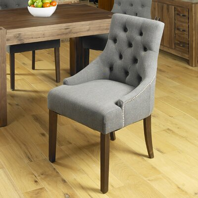 Baumhaus Solid Wood Upholstered Dining Chair