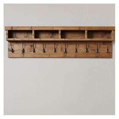 Baumhaus Heyford Rough Sawn Oak Wall Mounted Coat Rack