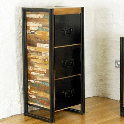 Baumhaus Urban Chic 3-Drawer Vertical Filing Cabinet