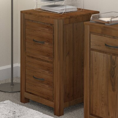 Baumhaus Mayan Walnut 2-Drawer Vertical Filing Cabinet