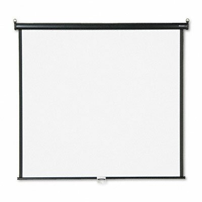 """Matte White Manual Projection Screen Viewing Area: 60"""" H x 60"""" W"""
