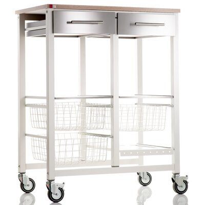Hahn Onda Kitchen Island with Stainless Steel Counter Top