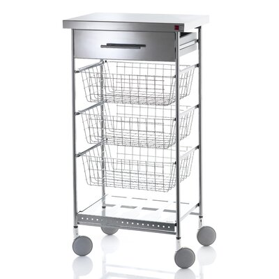 Hahn Afinity Inox Kitchen Island with Stainless Steel Counter Top