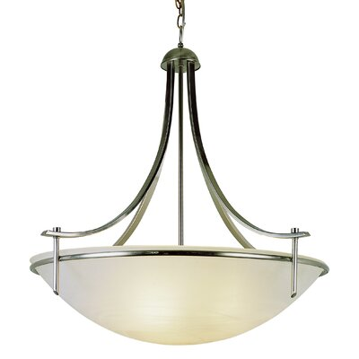 Hawkes 3-Light Bowl Pendant Finish: Brushed Nickel