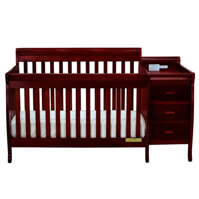Kimberly 3-in-1 Convertible Crib Color: Cherry