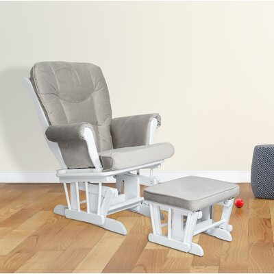 Sleigh Glider and Ottoman Color: White