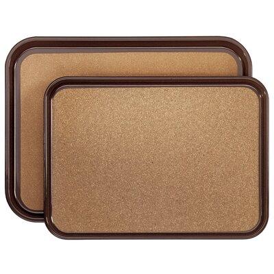 Contacto Bander Antirutsch-Tablett rechteckig in Braun