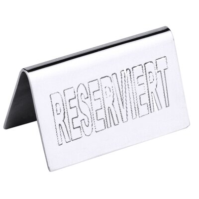 Contacto Bander Reserviert-Schild