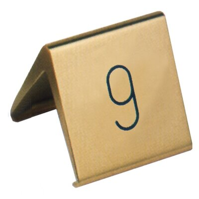 Contacto Bander Tischnummernschild in Gold