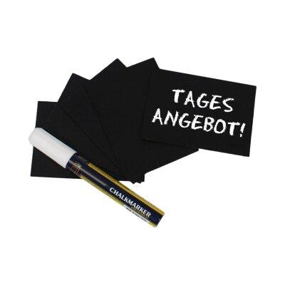 Contacto Bander Schreibtafel in Schwarz mit Stift (20er Pack)