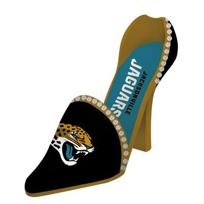 NFL Decorative Team Shoe 1 Bottle Tabletop Wine Rack NFL Team: Jacksonville Jaguars