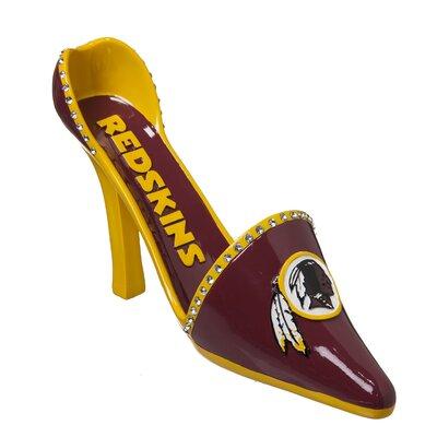 NFL Decorative Team Shoe 1 Bottle Tabletop Wine Rack NFL Team: Washington Redskins