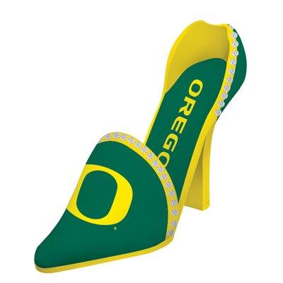 NCAA Shoe 1 Bottle Tabletop Wine Rack NCAA Team: Oregon