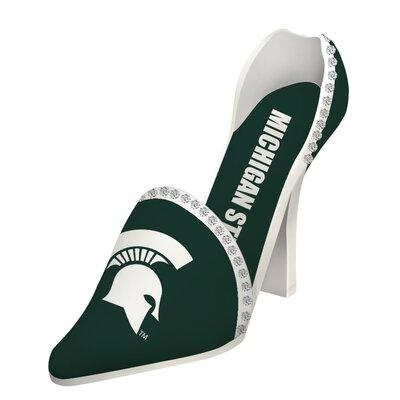 NCAA Shoe 1 Bottle Tabletop Wine Rack NCAA Team: Michigan State