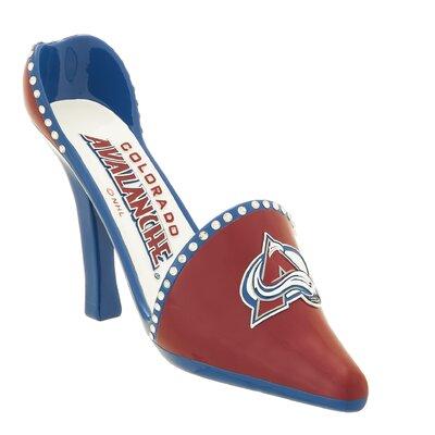 NHL Decorative Team Shoe 1 Bottle Tabletop Wine Rack NHL Team: Colorado Avalanche