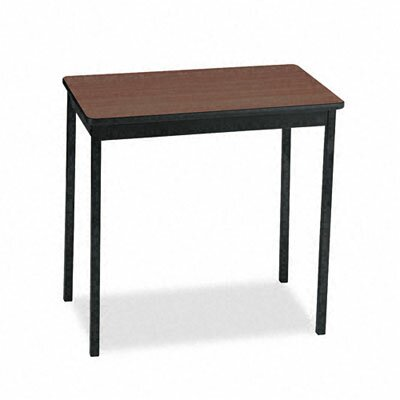 Barricks Utility Training Table Size: 30H x 30W x 18D, Tabletop Finish: Walnut/Black