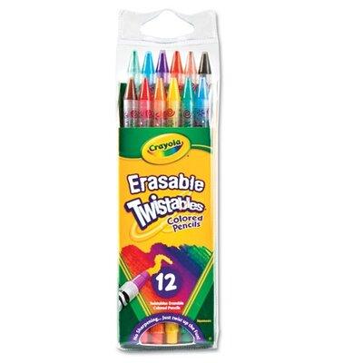 Crayola LLC Twistables Erasable Colored Pencils (12/Pack)