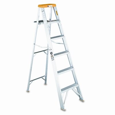 8 ft Aluminum Louisville Folding Step Ladder with 225 lb. Load Capacity