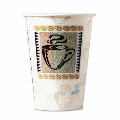 Dixie PerfecTouch® Coffee Haze 8 oz. Insulated Paper Hot Cup