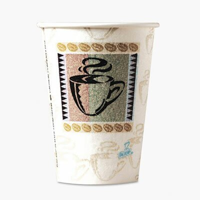 Dixie PerfecTouch® Coffee Haze 12 oz. Insulated Paper Hot Cup