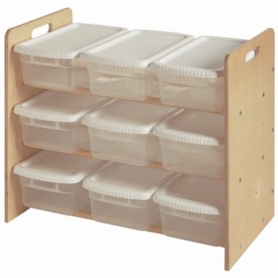 Little Colorado Nine Bin Toy Organizer 9 Compartment Cubby