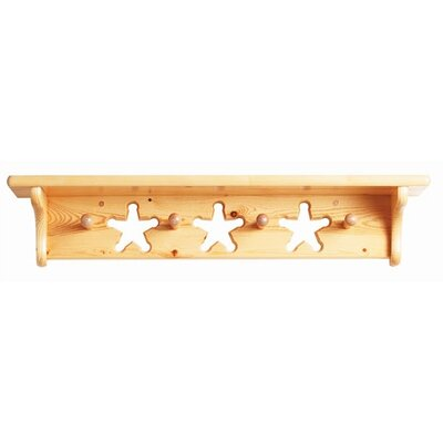 Sharlene Solid Wall Mounted Coat Rack Color: Honey Oak