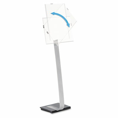 """Info Sign Duo Floor Sign Stand For Letter-Size Inserts, 44-1/2"""" High"""