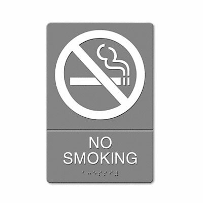 Headline Sign Ada Sign, No Smoking Symbol with Tactile Graphic, Molded Plastic