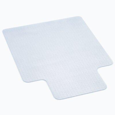 """EconoMat Low Pile Carpet Straight Edge Chair Mat Size: 46"""" x 60"""""""