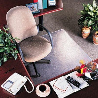 "RollaMat Medium Pile Carpet Beveled Edge Chair Mat Size: 45"" x 53"", Lip: Included"