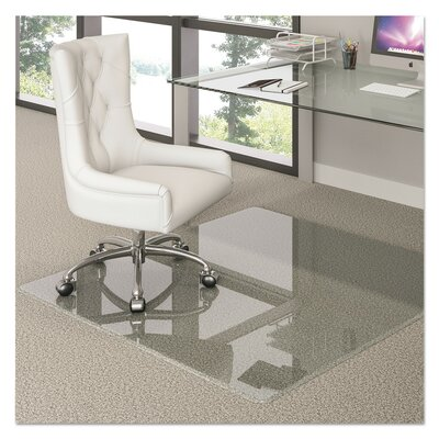 "Hard Floor Straight Edge Chair Mat Size: 2.75"" H x 44"" W x 50"" D"