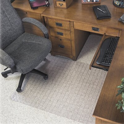 Supermat Checkered Low Pile Carpet Beveled Edge Chair Mat