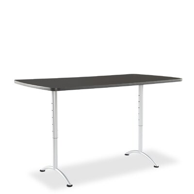 Curved End Conference Table Finish: Graphite/Silver, Size: 6' L