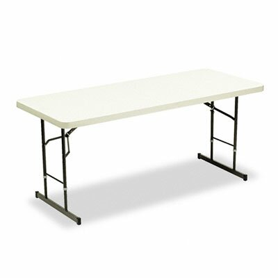 "72"" Rectangular Folding Table Finish: Platinum"