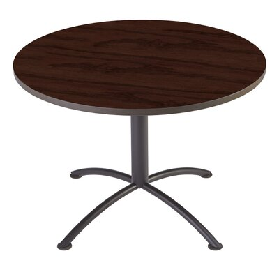 iLand Circular Conference Table Base Finish: Charcoal, Top Finish: Mahogany, Size: 3.5'