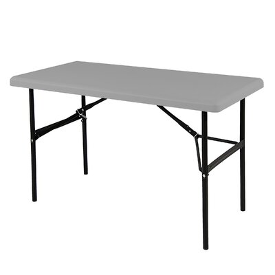 """Indestruc-Tables Too? Rectangular Folding Table Finish: Charcoal, Size: 29"""" H x 72"""" W x 30"""" D"""
