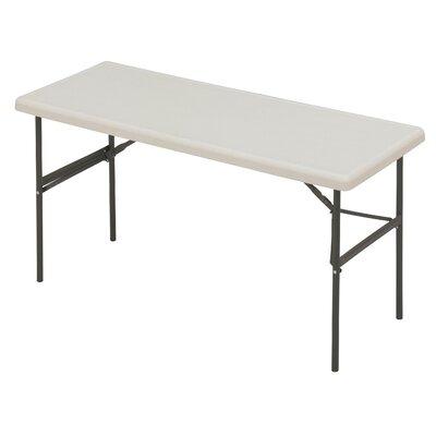 "Indestruc-Tables Too? 60"" Rectangular Folding Table Finish: Platinum"