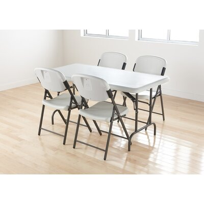 Folding Chair in Platinum (Pack of 4)