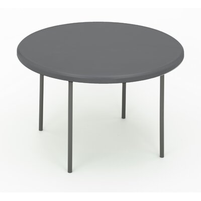 """Indestruc-Tables Too? 48"""" Round Folding Table Finish: Charcoal"""