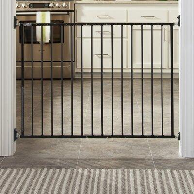 Easy Walk-Thru Metal Safety Gate Color: Black