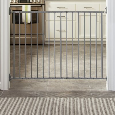Easy Walk-Thru Metal Safety Gate Color: Gray
