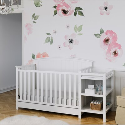 Storkcraft Steveston 4-in-1 Convertible Crib and Changer Color: White