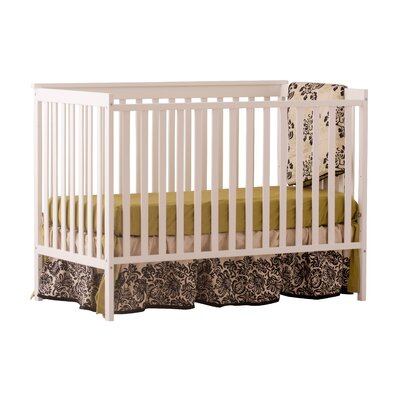 Sheffield Fixed Side Convertible Crib Color: White